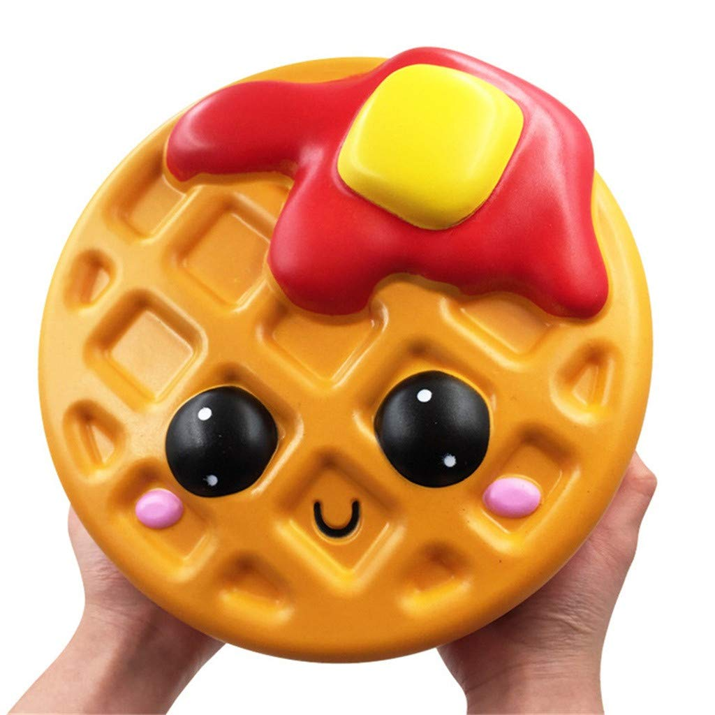 Libison Adorable Kawaii Jumbo Waffle Slow Rising Cream Scented Slow Rising Scented Fun Collection Stress Relief Toy by Libison (Image #3)