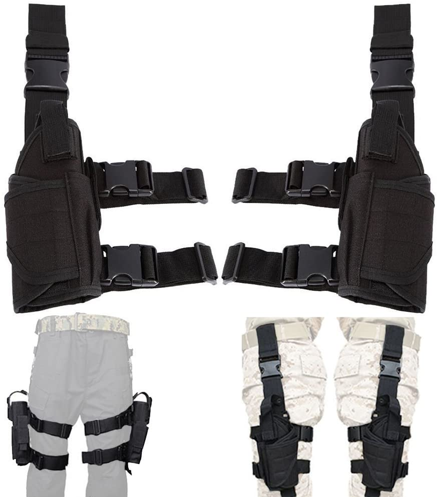 Left Hand & Right Hand Universal Waterproof Pistol Leg Thigh Holster