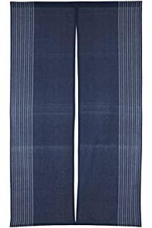 Awesome Vertical Stripe Navy Blue Cotton Cloth Japanese Noren Curtain Tapestry