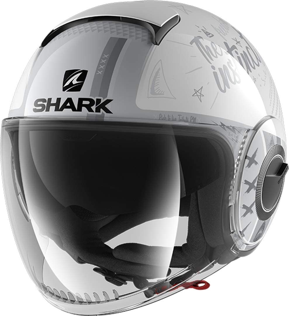 XS Shark Casco de moto NANO TRIBUTE RM WSS Blanco//Gris