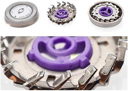 Anera 3PCS Cabezales de Afeitado Doble Capa Sharp Electrónica Capítulo Cuchillas de Repuesto para Afeitadora y Cortador para revestimiento de Philips HQ56 Norelco HQ3 HQ6675 HQ442 HQ300