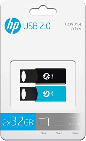 PENDRIVE HP 32GB USB2.0 V212W Negro - Pack 2 PENDRIVES: Amazon.es ...