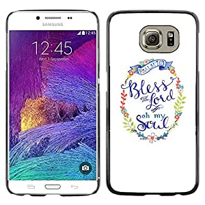 iKiki Tech / Estuche rígido - Lord God Christ Christian Religion White Wreath - Samsung Galaxy S6 SM-G920