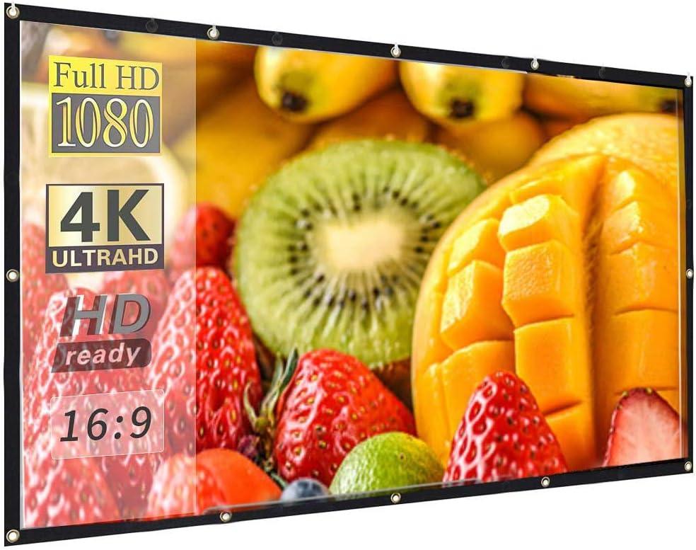 Pantalla Proyector 120 Pulgadas proyección HD, 4K