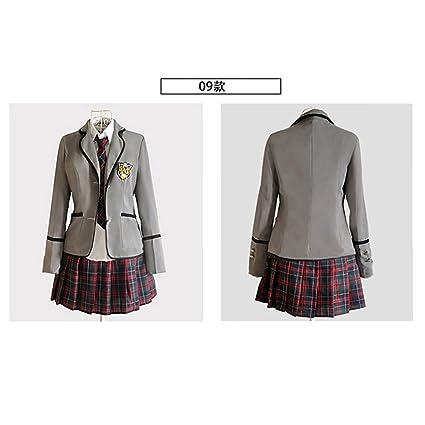 URSRUR Uniforme escolar japonés de niñas chicas traje de marinero de manga  larga traje de cosplay de anime  Amazon.com.mx  Ropa f165f785294