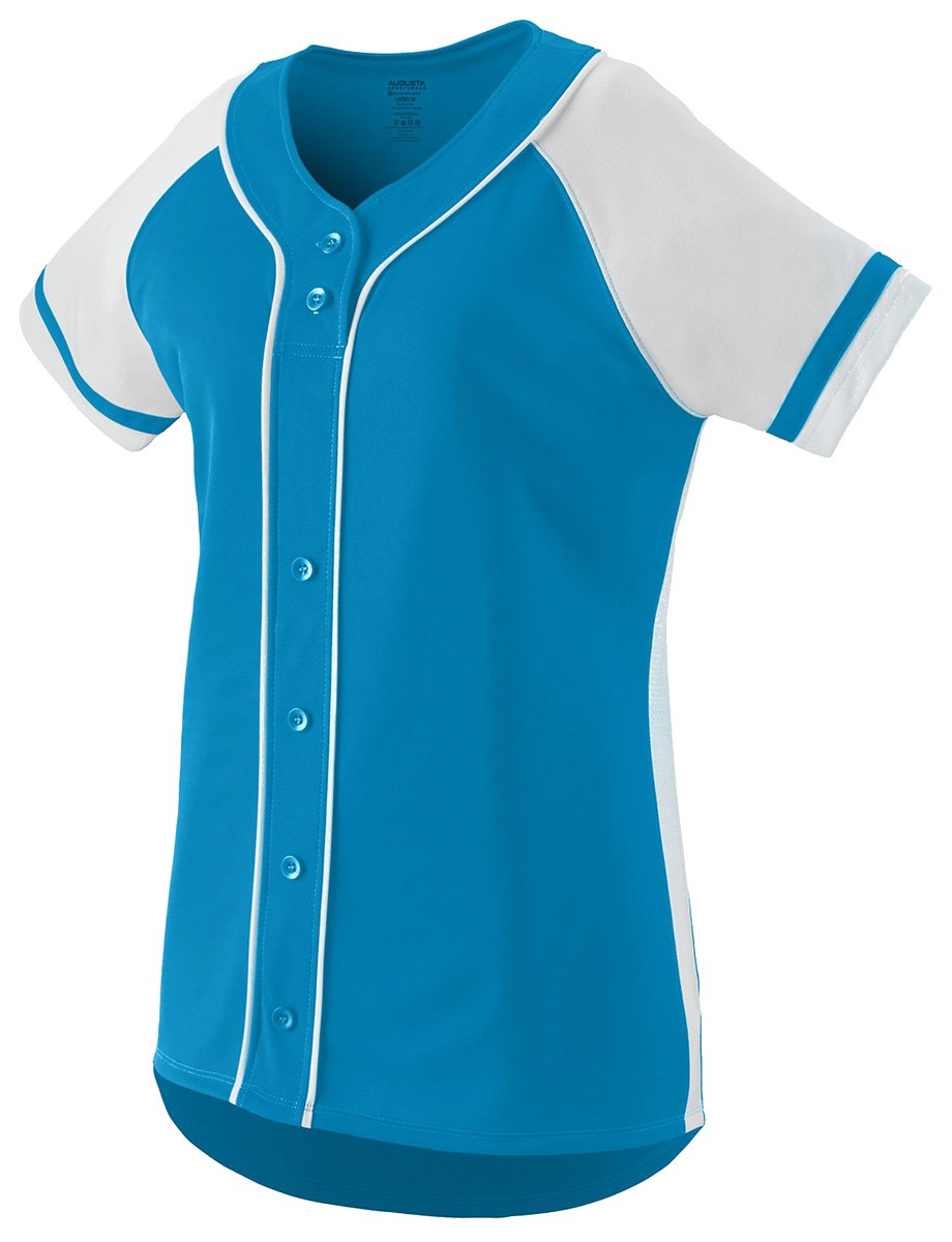 Augusta Sportswear Girls ' Winner Softball Jersey B01C5G6W5IPower Blue/White Large