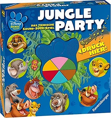 Ravensburger 21793 Animal Friends Jungle Party - Juego de Mesa ...
