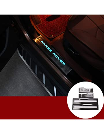Dmwfaker 4PCS Carbon Fiber Protector Auto Door Threshold Plate Stickers Car Door Sill Guards Cover Decor Accessories,For Toyota C HR CHR
