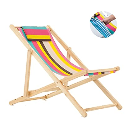 Amazon.com : Fold Chair Casual Beach Chair Outdoor Swimming ...