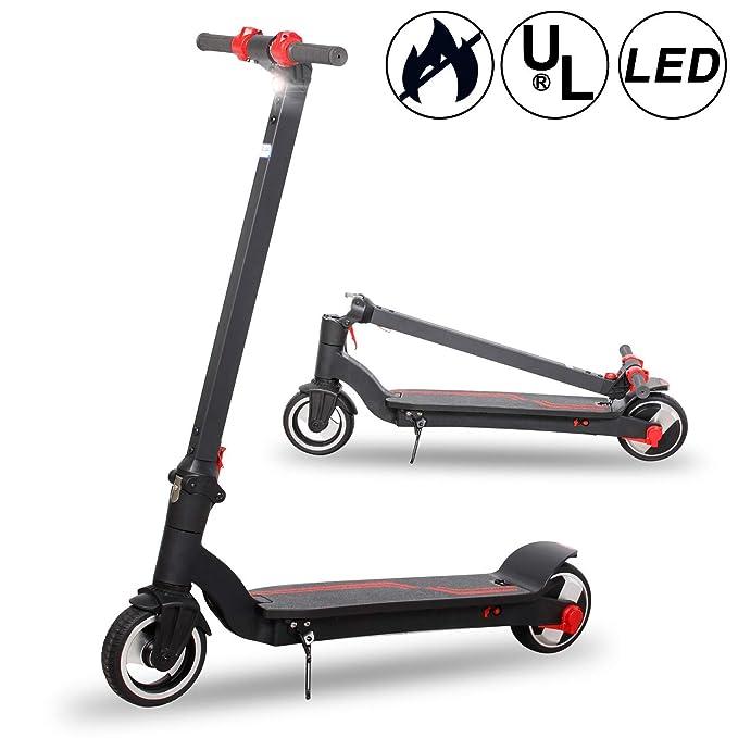 Scooter eléctrico con LED Frontal Brillante, Bicicleta de ...