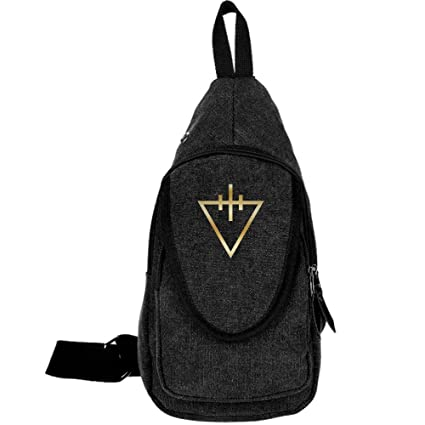 d186eca2280e Buy MDXADYY The Devil Wears Prada Gold Logo Canvas Crossbody Chest Bag  Online at Low Prices in India - Amazon.in