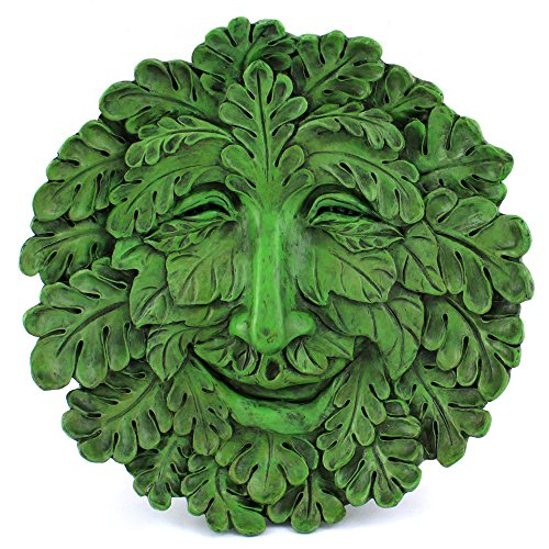 Top Collection Garden Oak Green Man Hanging Plaque, ()