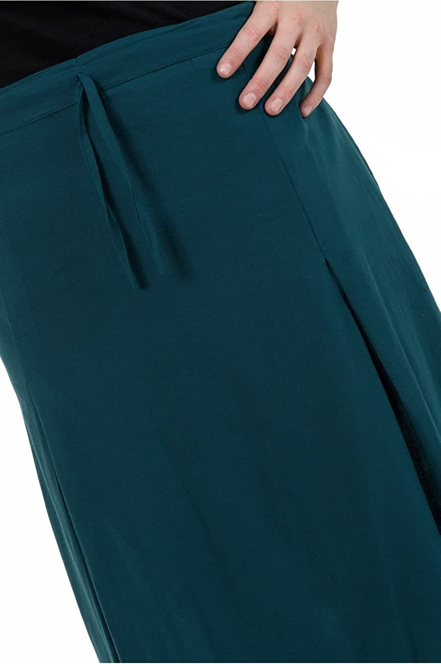 213202db8276 FANTAZIA Jupe Longue Basique Ethnique Bleu Petrol - Taille Unique  Amazon.fr   Vêtements et accessoires