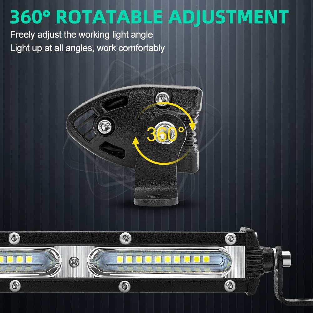 1 Year Warranty JoaSinc LED Light Bar 26 Inch 240W LED Driving Work Light Bar Off road Fog Light Spot Beam CREE LED Pods Light Bar for 4x4 J-eep Truck SUV ATV 4WD Boat 12V 24V
