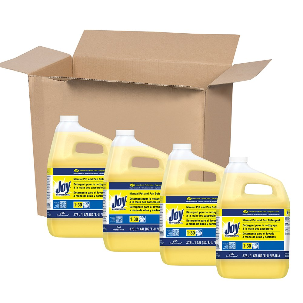 Amazon.com: Dishwashing Detergent Degreaser from Joy Professional, Bulk Pot, Pan and Dish Liquid Soap for Commercial Restauran Kitchen Uses, Lemon Scent, ...