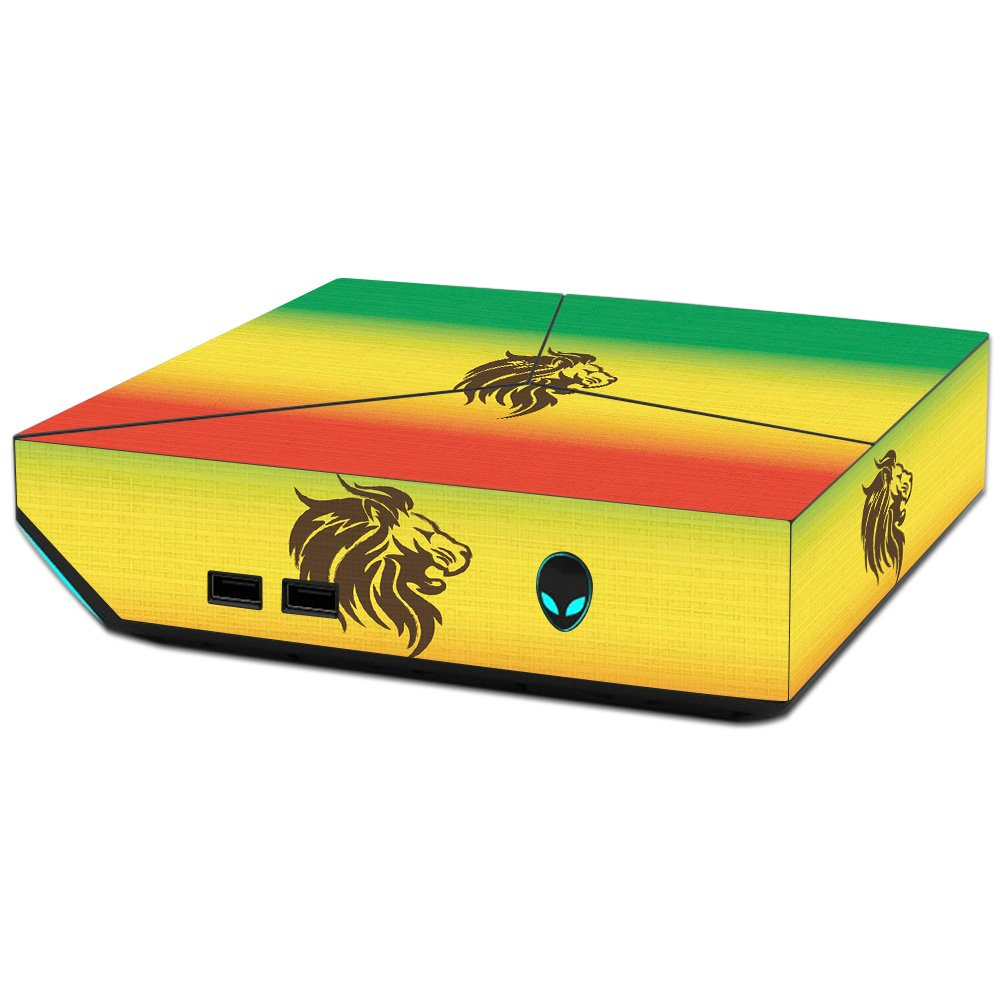 MightySkins Skin For Alienware Steam Machine - Rasta Lion   Protective, Durable, and Unique Vinyl Decal wrap cover   Easy To Apply, Remove, and Change Styles   Made in the USA