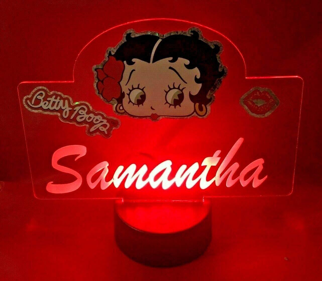 Amazon.com: Betty Boop Lámpara de luz LED personalizada ...