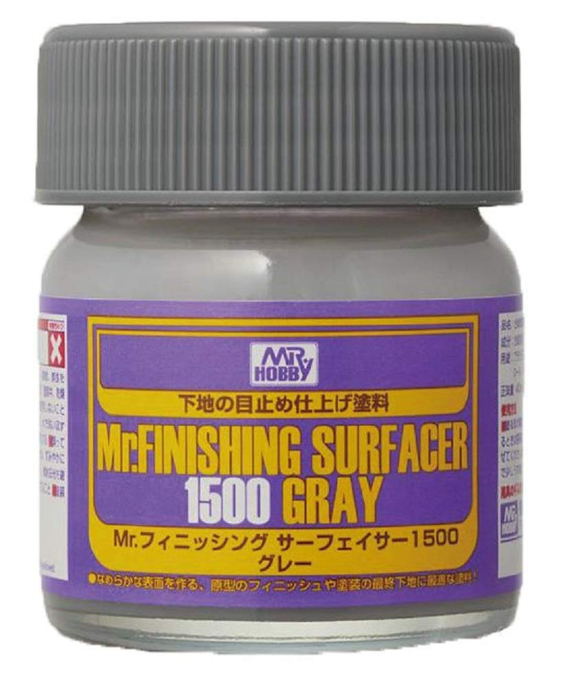 Mr. Finishing Surfacer 1500 Gray Bottle