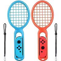 Racchette da Tennis per Nintendo Switch Cheerforu Racchette da Tennis per Nintendo Switch Joy-Con Controller Nintendo Switch Mario Tennis Aces Racchette( Pacco di 2,Rosso e Blu )