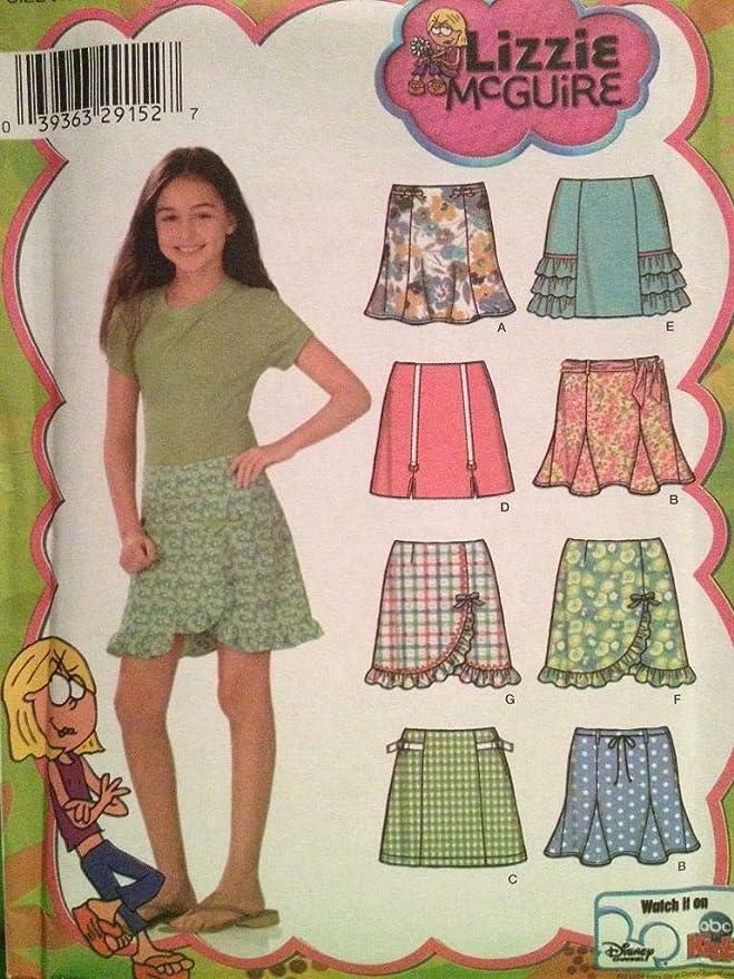 Simplicity Lizzie McGuire 4616 - Patrones de costura para falda de ...