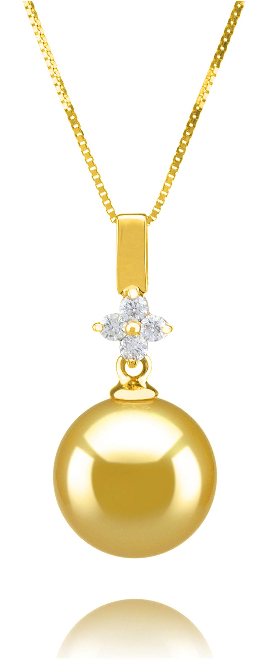 Hilda Gold 10-11mm AAA Quality South Sea 14K Yellow Gold Cultured Pearl Pendant For Women