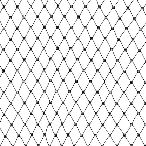 Jason's 18in Russian Netting Black Fabric by The Yard, Black