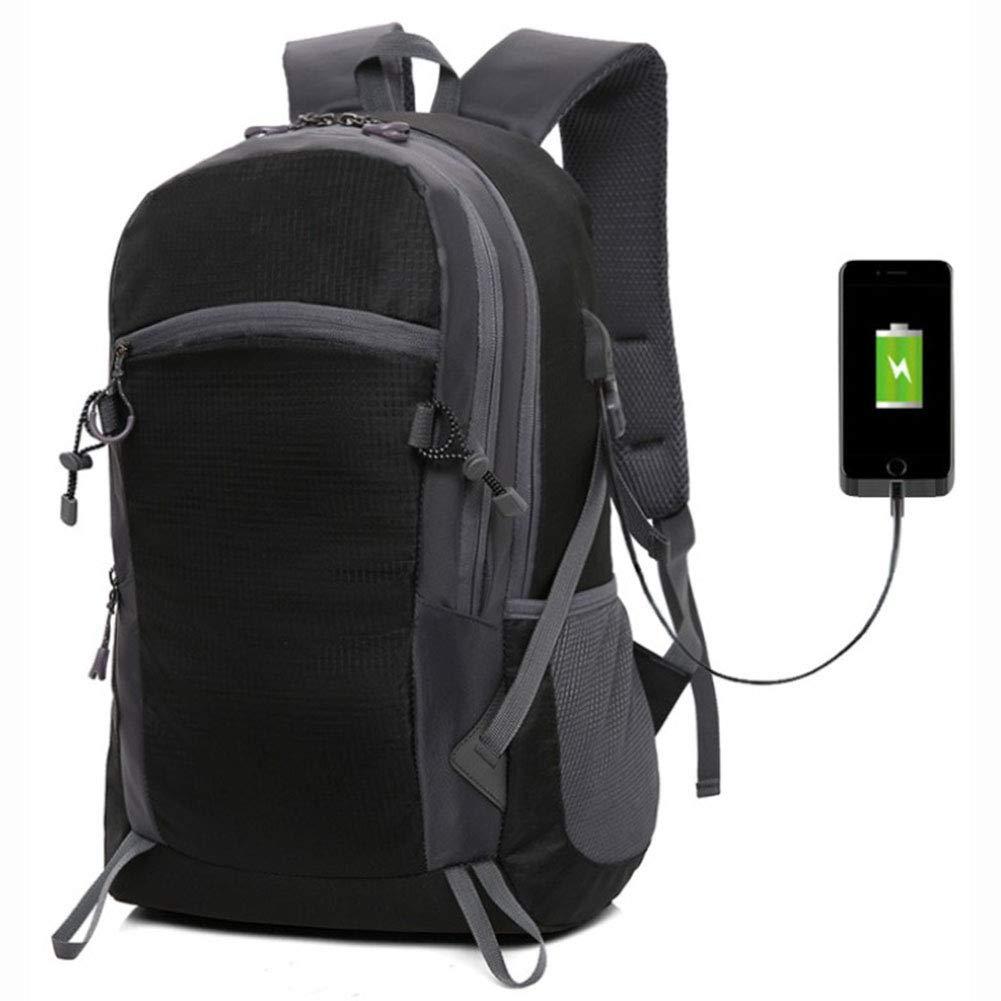 noir  DWGYQ USB Sac à Dos de ChargeHommest, Décontracté Alpinisme Ordinateur Sac à Dos d'étudiant en Plein air randonnée Sacs à Dos Hommes et Femmes de Camping Fournitures,vert
