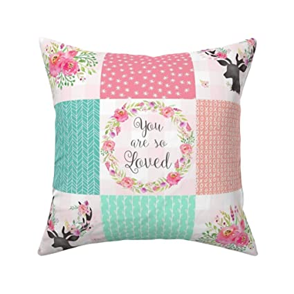 Amazon.com: PMNADOU Pillow,You are So Loved Deer Patchwork ...