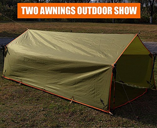 Waterproof Portable Awnings : Free soldier outdoor sports hiking camping awning