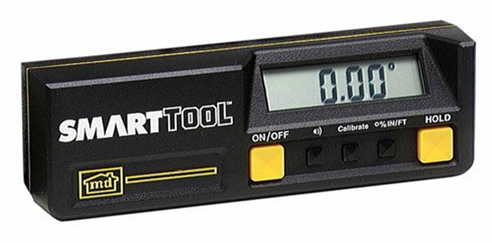 SmartTool STM-AS Digital Inclinometer 0.05° Angle Sensor: Measures Inclinations through 360°, % Slopes & mm/m Pitch M-D Building Products