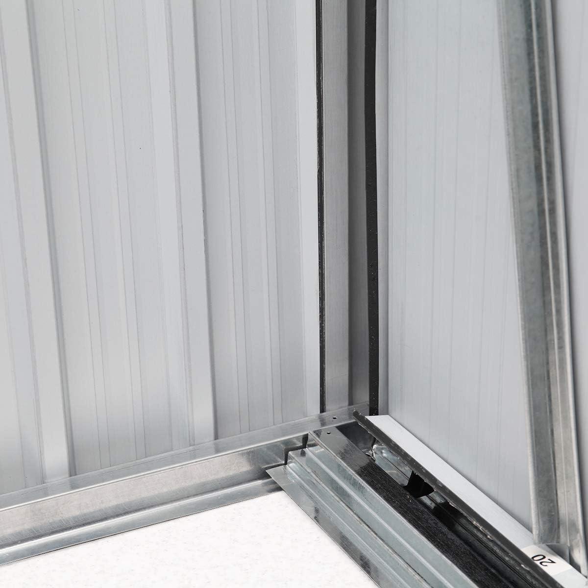 Sandinrayli - Cobertizo de acero galvanizado con puerta corredera ...