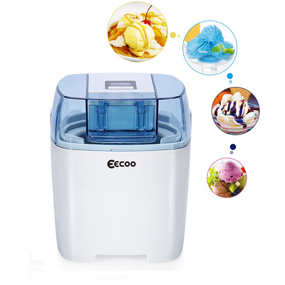 Ice Cream Maker, Automatic Electric Ice Cream Maker Frozen Yogurt Homemade Family Machine Kids Home Soft Serve Ice Cream Machine