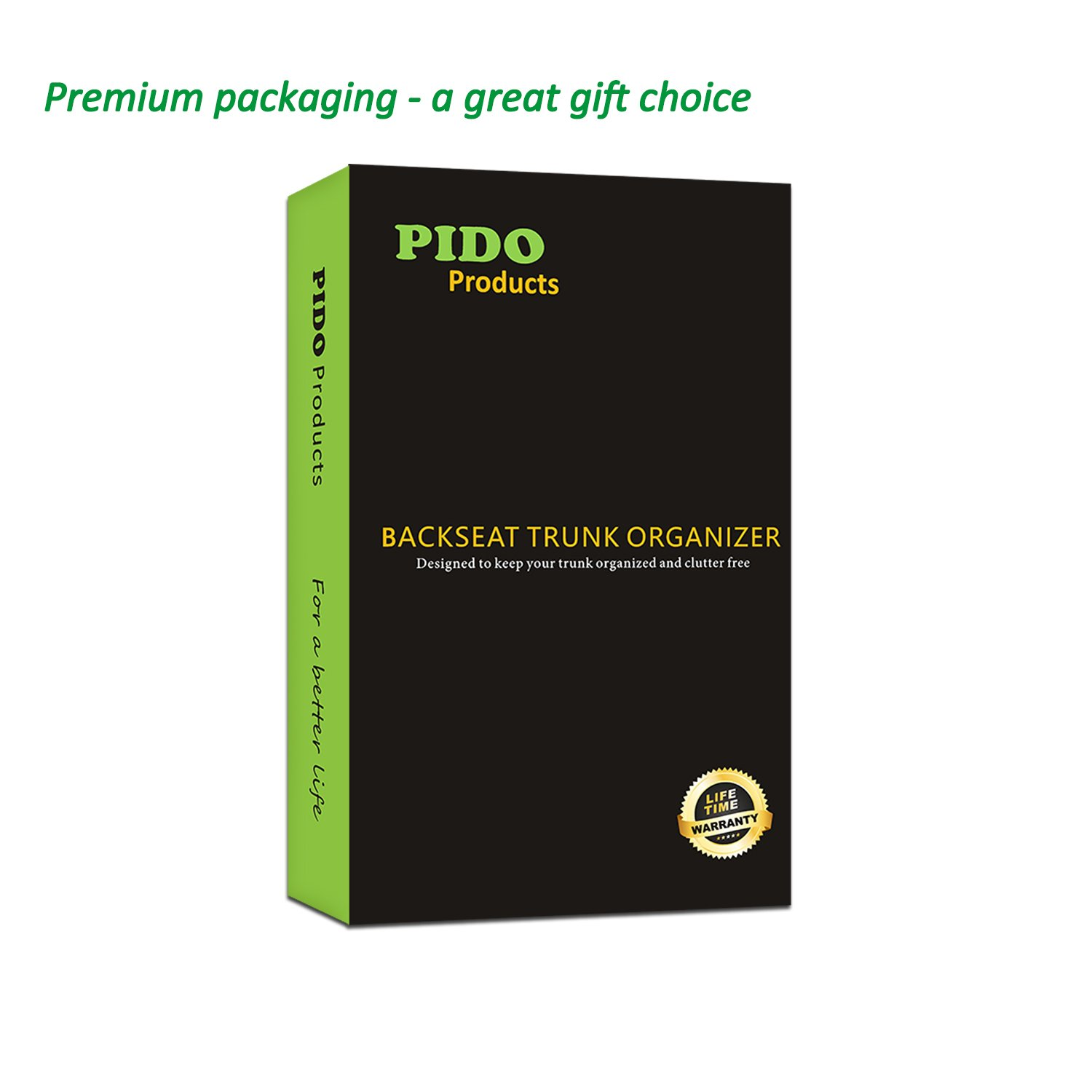 PIDO Backseat Trunk Organizer, Auto Hanging Seat Back Storage Organizer for SUV and Many Vehicles – Free Your Trunk Space by PIDO (Image #7)