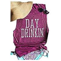 Chulianyouhuo Women Day Drinkin' Tank Tops Drink Sleeveless Shirt Funny Workout...