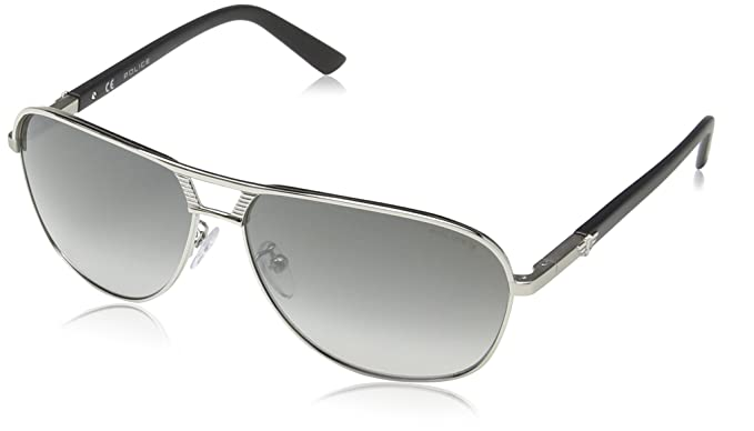 Police - Gafas de sol Aviador S8849 Flash 2, SHINY PALLADIUM ...