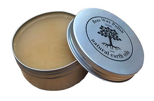 Bees Wax Polish - 100% organic -Voc free and no toxins - 250ml - clear