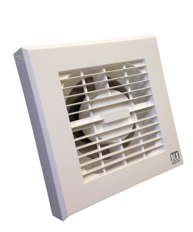 Rdl bathroom extractor fan - 4 Inch 100mm White Bathroom Extractor Fan 230 Volt Adjustable Timer