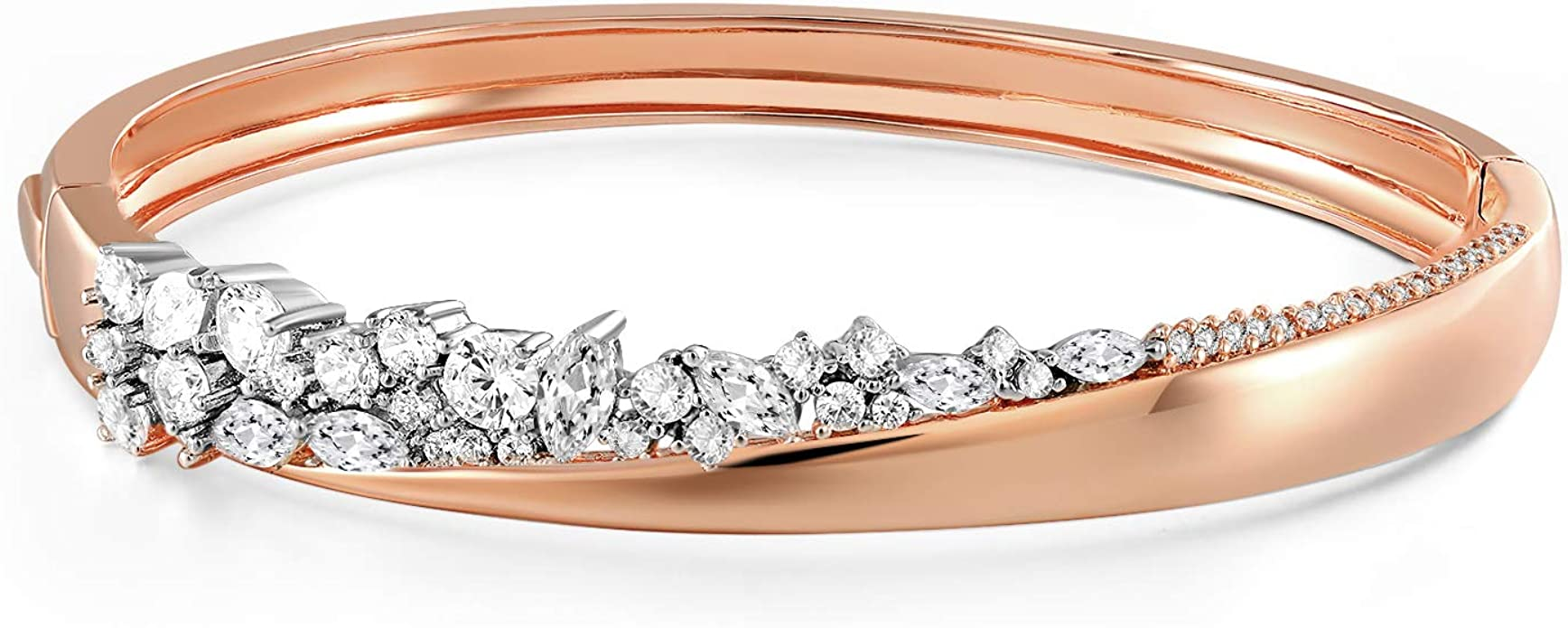 18K Rose Gold Plated,Cuff,Bangle,AAAAA CZ,Bracelet,Valentine Gift,Lover Gift,Bangle Gift,Diamond Bangle,Quality CZ,Friend Gift,Engagement
