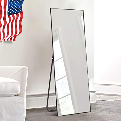 self Full Length Floor Mirror 43″x16″ Large Rectangle Wall Mirror Hanging or Leaning Against Wall