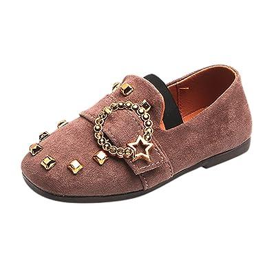 YanHoo Zapatos para niños Zapatos Individuales Zapatos con Guisantes Zapatos Casuales para niños y niñas Infantes Chicas Correas Mocasines sin Cordones ...