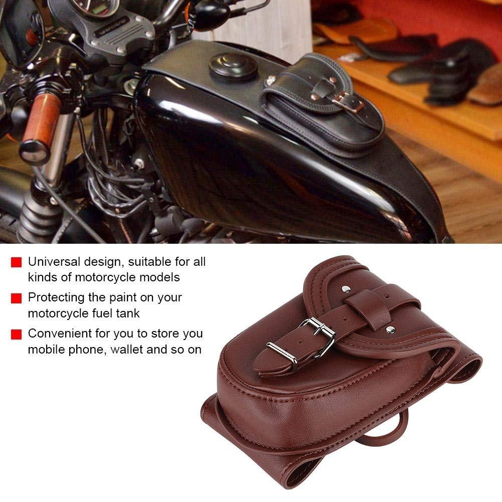 Borsa porta attrezzi for moto Borsa porta attrezzi universale for serbatoio carburante in pelle PU for accessori auto Marrone