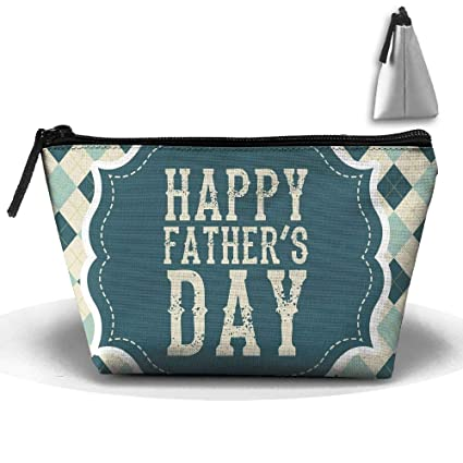 a3cfe11f8f90 Amazon.com: Travel Cosmetic Bags Happy Fathers Day Small Makeup Bag ...