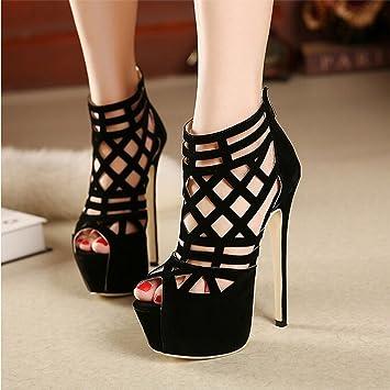 0293996f267 Fashion Week stunning 16CM super beautiful high-heeled sandals Thin Heels  sexy Cut-Outs women...