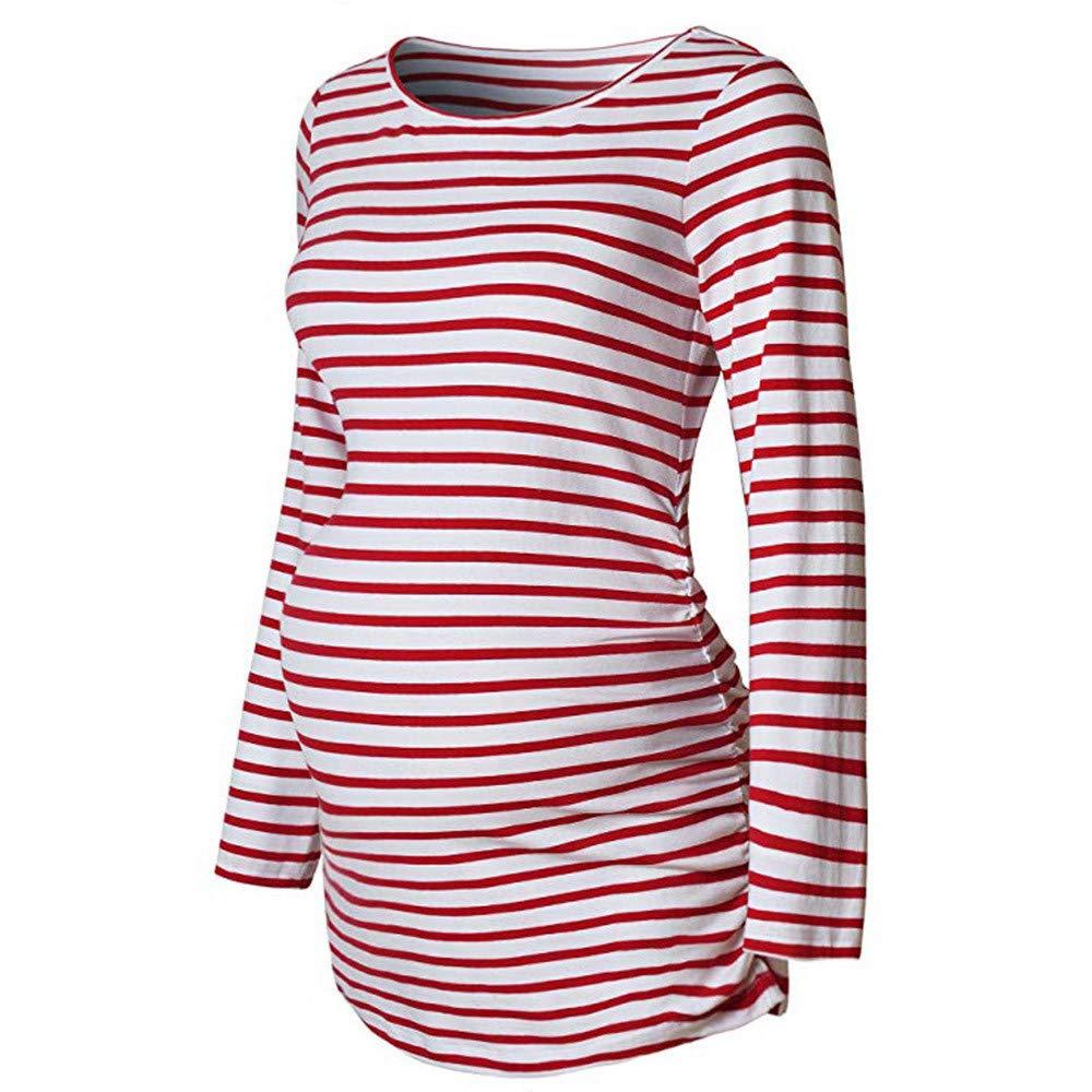 Femme Enceinte Vetement Hiver Chaud Manteau De Maternité à Manches Longues De Base VêTements Haut T Shirt VonVonCo2018100001
