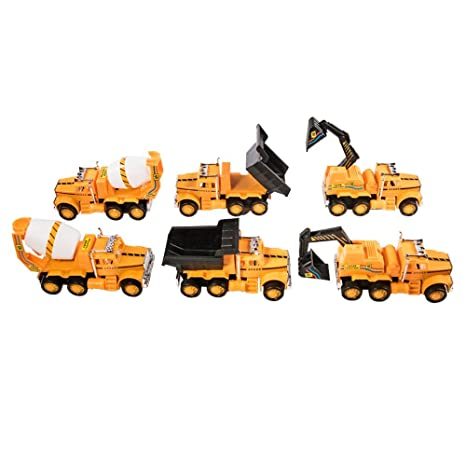 amazon com tuktek kids first road builder friction powered 6 piece