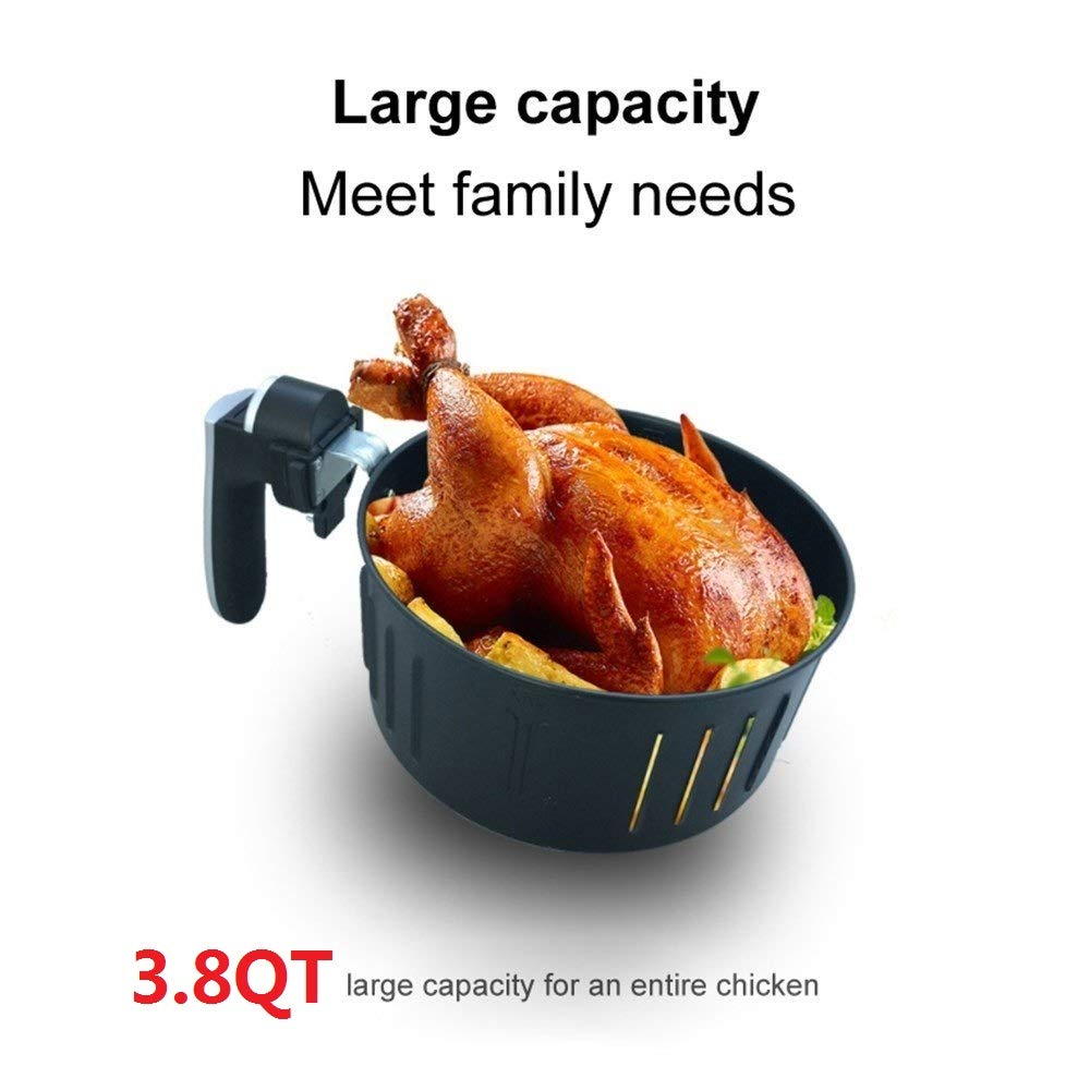 GULEEK Digital Hot Air Fryer Comes with Recipes GAF-01 Touch Screen Time and Temperature Control Extra Large Capacity Non-stick Detachable Healthy Multi-function Electric Air Fryer Cookbook Included