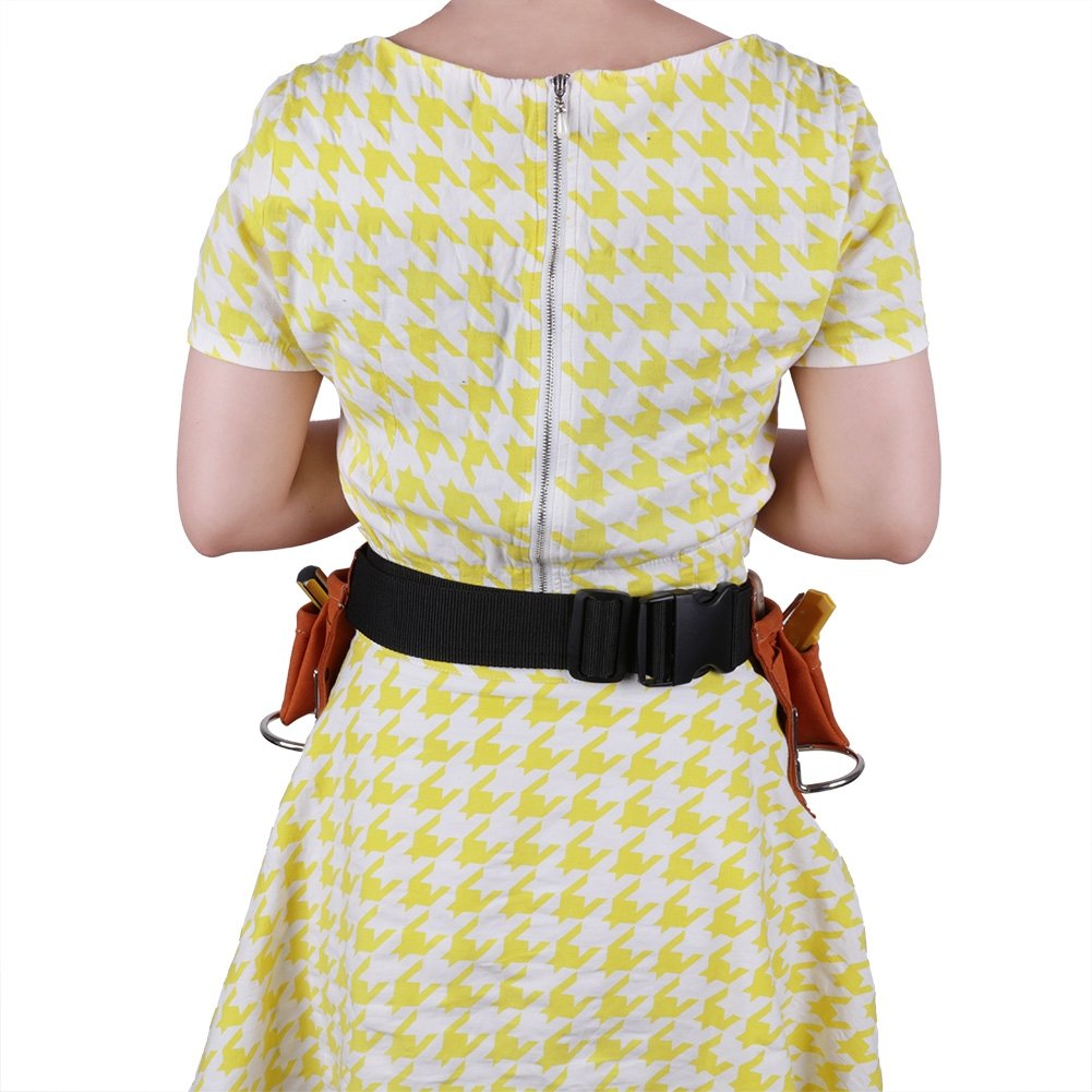 Shopline Adjustable Kids Tool Belt, Super Fiber Child Pouch Tool for Heavy Projects Costume Dress Up (Yellow) by Shopline (Image #4)