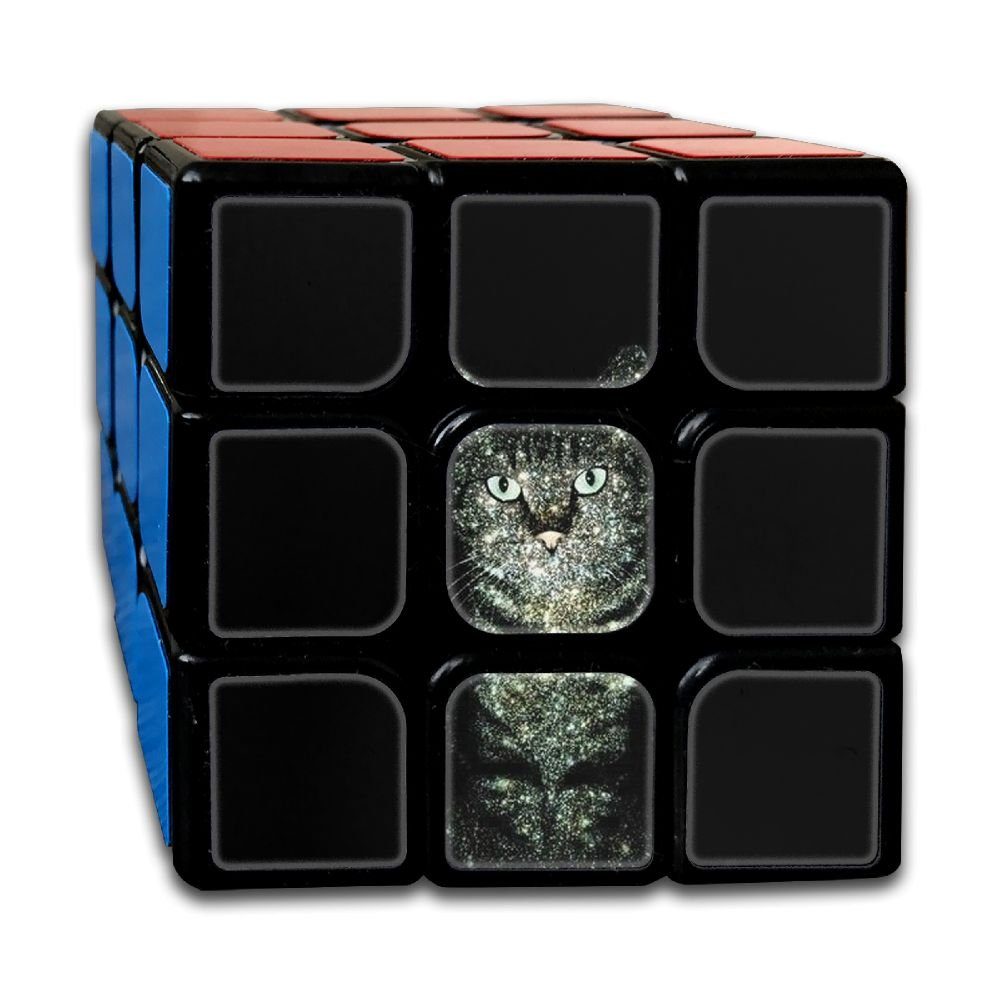 AVABAODAN Shine Cat Rubik's Cube Original 3x3x3 Magic Square Puzzles Game Portable Toys-Anti Stress For Anti-anxiety Adults Kids