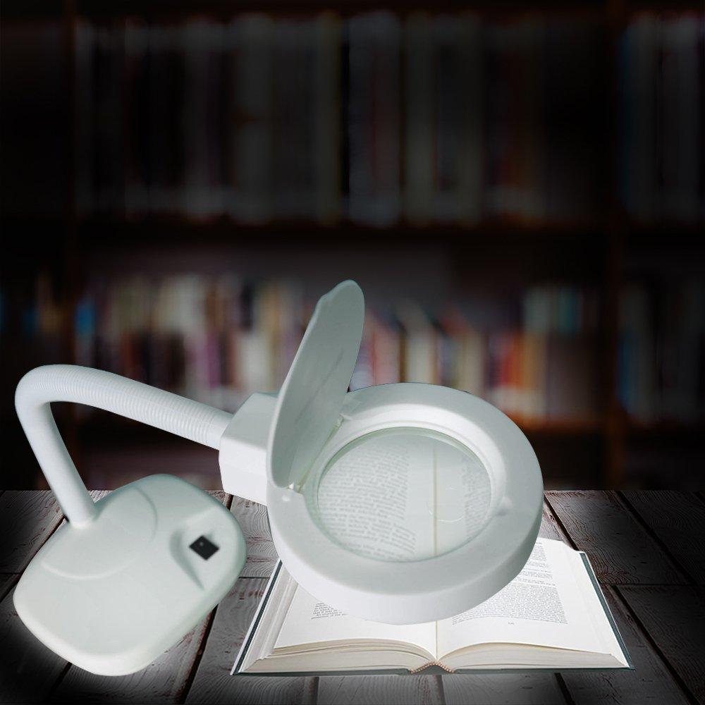 Concise Home LED-Lupenleuchte Schreibtischlampe Arbeitsplatzlampe Lesehilfe Vergr/ö/ßerungslampe