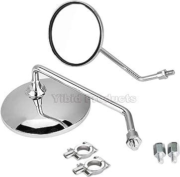 Universal Bike Round Chrome Bicycle Mirror Silver Handlebar Fit